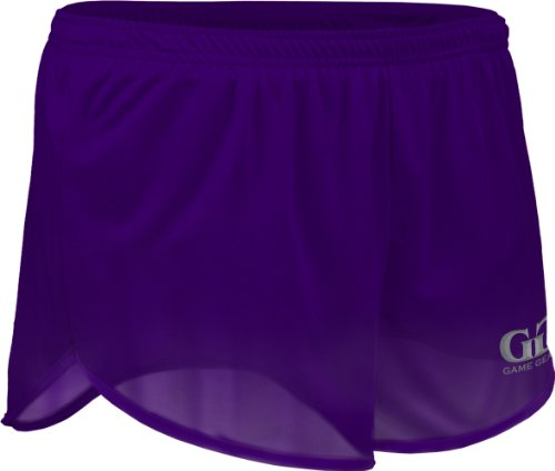 TR60 Men's 2.5″ Athletic Lightweight Track Short with Waistband and Side Vent (Medium, Purple)
