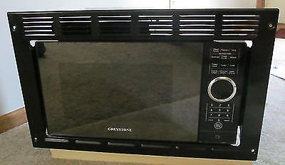 RV Motorhome Greystone Black Built-in Microwave Oven 0.9 Cu Ft Trim Frame (Microwave 15 Inch compare prices)