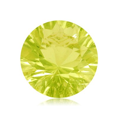 3.70 Cts of 10x10 mm AA Round Concave Lemon Citrine