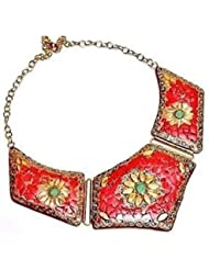 Jaipur Gems Yellow Necklace For Women