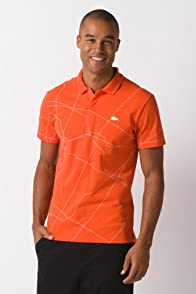 Fashion Show Short Sleeve Pique Map Print Polo Shirt