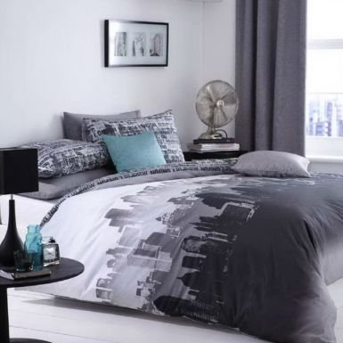 Find Cheap City Scape Skyline Double Duvet Bed Linen Set