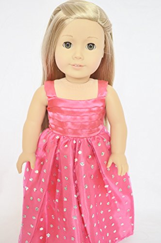 PINK SPARKLE PRINCESS DRESS FOR 18 INCH AMERICAN GIRL DOLLS