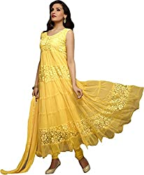 Rajnandini Women'S Brasso Semi Stitched Anarkali Suit