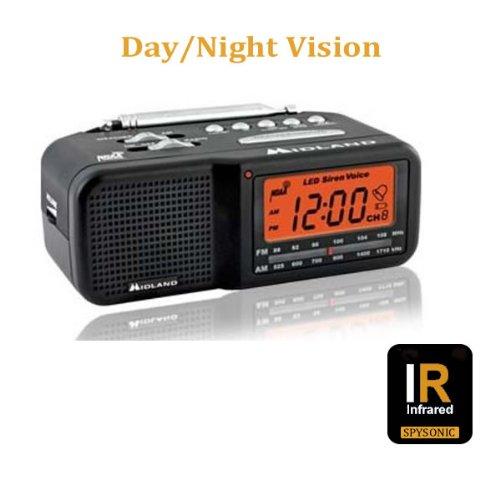 Hidden Camera Night Vision Cube Radio Hi Resolution Spy Camera Dvr Motion-Activation - Spysonic