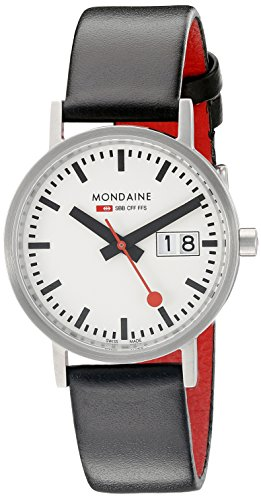 Mondaine - A669.30008.16SBO - Montre Femme - Quartz Analogique - Bracelet Cuir Noir