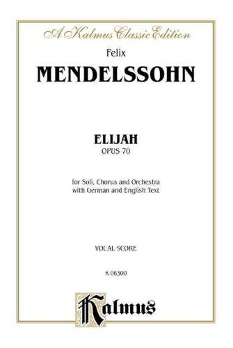 Elijah (Kalmus Edition)
