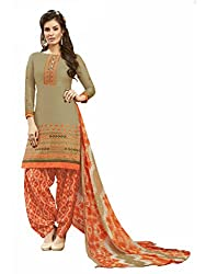 Women Icon Presents Beige Embroidered Un-Stitched Dress Material WICKFRPCO15004