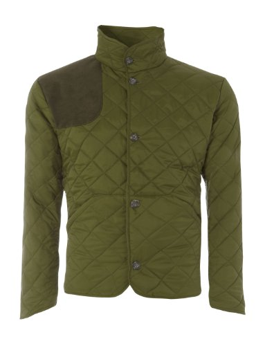 Toomer Bros Mens Quilted Shooting Jacket (S, Green)