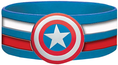 Marvel comic Retro Captain America Shield Rubber Wristband