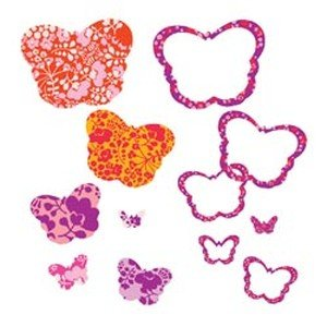 Hip In a Hurry 3D Decor Cut Outs 13 Inch -Red & Orange Butterfly