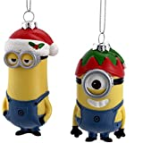 Kurt Adler Despicable MeTM Dave And Carl With Hat Christmas Ornament