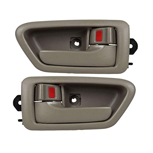 AUTEX 2PCS Beige Interior Left Driver Side + Right Passenger Side Door Handle for 1997-2001 (1997, 1998, 1999, 2000, 2001) Toyota Camry (Driver Door Handle 98 Camry compare prices)