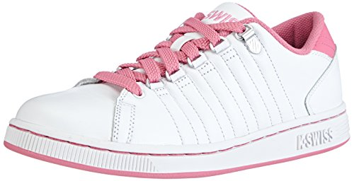K-Swiss Women's Lozan III Heritage Plain Toe Sneaker, White/Bubblegum, 8 M US