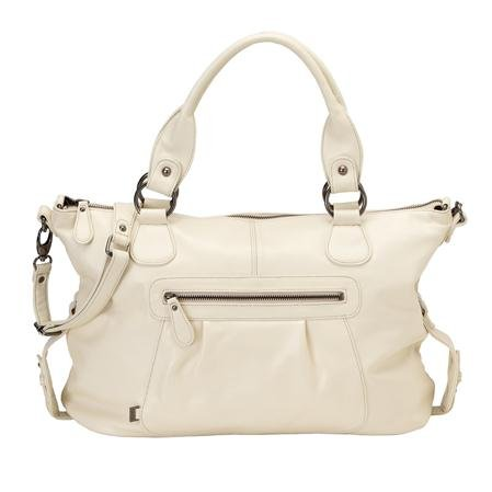 OiOi Changing Bag - The Tote - Ivory Nappa Leather Slouch