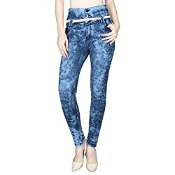 Ajaero Slim Fit Denim Lycra Upper Waist Women Jeans (Dark Blue, 28)