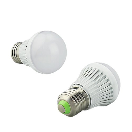 Dgi Mart Led Household Light Bulbs E27 220V 8W 450 Lumens Warm White Led Bulb With Fireproof Pc Lamp Shade( 1 Piece ) front-618763