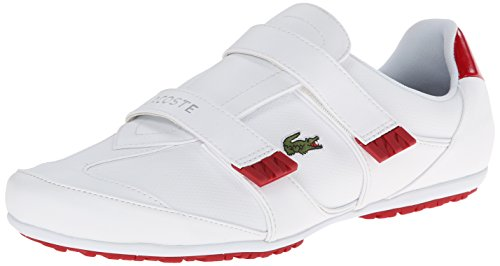 Lacoste Women'S Arixia Lcr Fashion Sneaker, White Red, 9 M Us