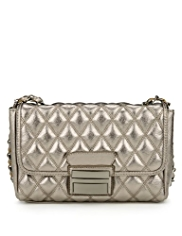 M&S Collection Push Lock Quilted Shoulder Bag
