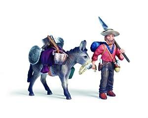 Schleich Gold Prospector with Donkey