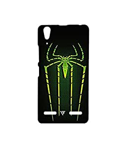 Vogueshell Spiderman logo Printed Symmetry PRO Series Hard Back Case for Lenovo A6000 Plus