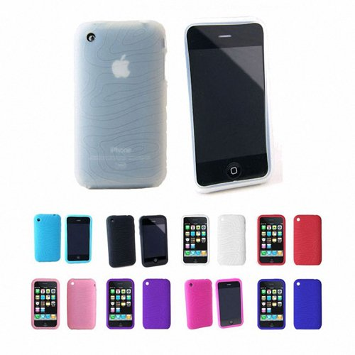 Apple iPhone 3G 3Gs 8GB 16GB 32GB Textured Silicone Skin Case Cover, Clear, One Size