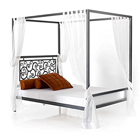 Cama con dosel forja Mod. CARACOLES