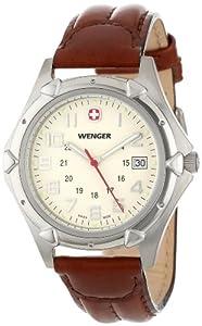(军表)Wenger 73114威戈XL棕色表带男士腕表 $113.67