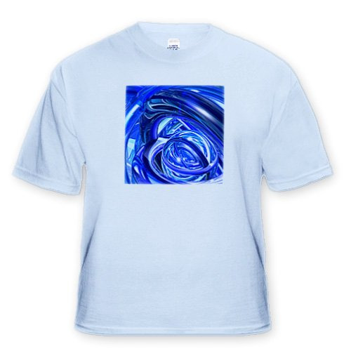 Blue Ringers reflective rings of vibrant blue in interspersed chaotic arrangement Toddler Light Blue T Shirt 4T
