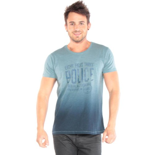 883 Police - Perran Graphic Tee Uomo Teal Blue M