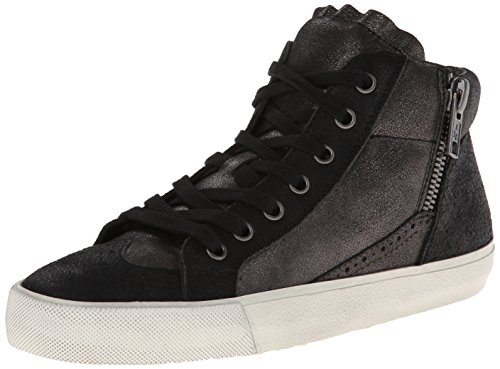 Ash Womens Spot BIS Fashion Sneaker,Black/Graphite,37 EU/7 M