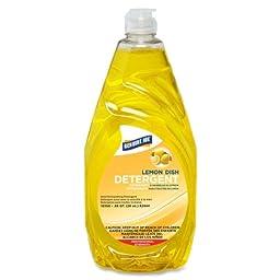 Genuine Joe GJO10358 Lemon Scent Dishwashing Liquid, 28oz