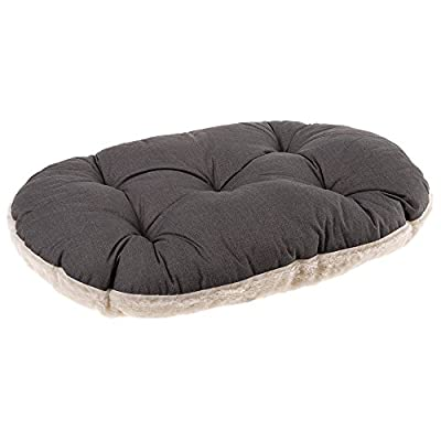 Ferplast Relax F 45/2 Cat and Dog Bed, Cotton/Fur, 43 x 30 cm, Brown