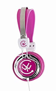 Urbanz ZIPCPK Zip Multi-device Stereo Headphone - Pink