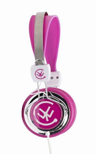 Urbanz Zip Kids Childrens Lightweight Dj Style Headphones (Pink)
