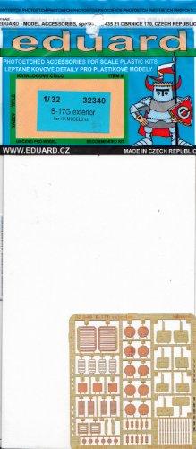 EDU32340 1:32 Eduard PE - B-17G Flying Fortress Exterior Detail Set (for the HK Model model kit) MODEL KIT ACCESSORY