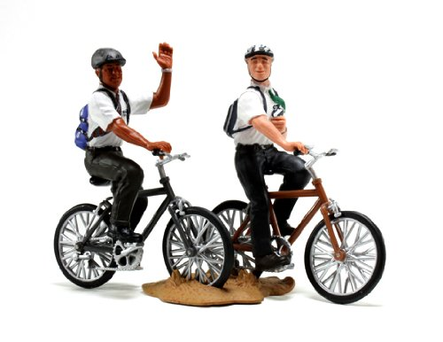 LDS Plastic Missionaries on Bikes Figurine - 3
