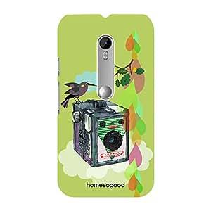 HomeSoGood Vintage Camera Painting Multicolor 3D Mobile Case For Moto G 3rd Gen (Back Cover)