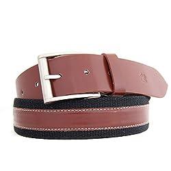 HIDEA Men's Casual Brown Canvas Belt