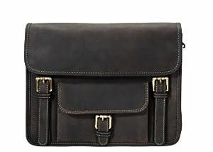 Visconti 16091 Distressed Oil Brown Leather Cross-Body Messenger Bag/ Handbag