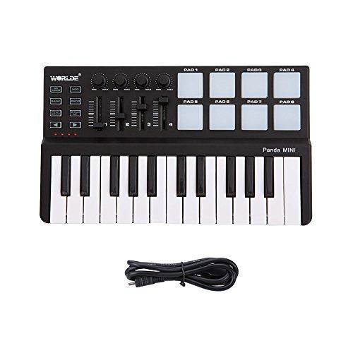 ammoon-Worlde-Panda-Mini-Porttil-Mini-25-Key-Teclado-USB-y-el-Controlador-MIDI-Pad-Drum
