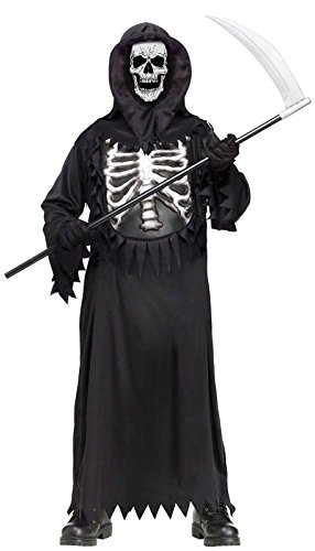 Glow Chest Grim Reaper Kids Costume front-967714