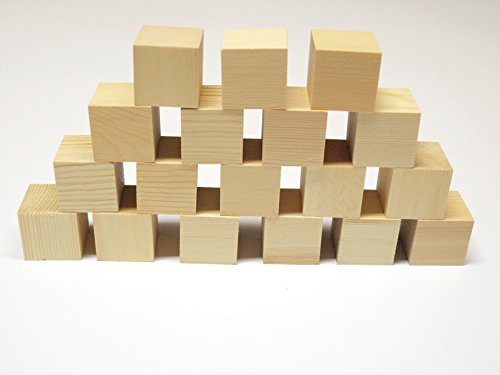 cyber monday week sale 1 5 wood craft blocks set of 18 wooden cubes 1 1 2 inch toys games. Black Bedroom Furniture Sets. Home Design Ideas