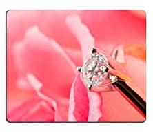buy Luxlady Gaming Mousepad Romantic Way To Present A Engagement Ring With Diamond Inside Beatiful Rose On Valentine Day Image Id 651498