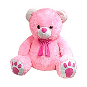 Kuddles Large Super Fluffy Pink Teddy Bear Soft Toy, Special Gift for Her