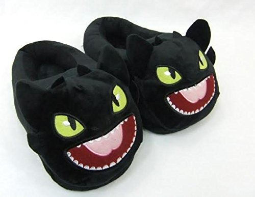 "How to Train your Dragon Toothless Plush Slipper approx 11"" long - 1"