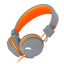 buy Headphones, Darkiron [Kanen] Series Headset With In-Line Microphone, Extremely Portable Foldable And Adjustable For Smart Phones/Ipad/Ipod/Mp3/Mp4(Orange)