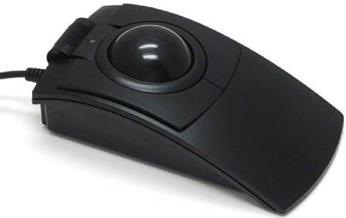 CST L-Trackレーザー式トラックボール USB 57mm径大玉ベアリングステンレスローラー支持 スクロールホイール付き 【正規品 1年間保証】 ブラック CST2545W