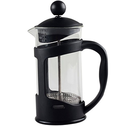 Portable Glass Coffee Maker : 350 ML/12 Oz Portable Classic PP French Press Coffee, Espresso & Tea Maker with Thick Heat Resistant
