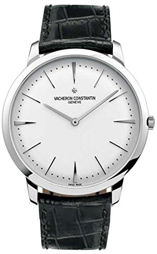 Vacheron Constantin Patrimony Grand Taille White Gold Black Alligator Mens Watch 81180000G-9117